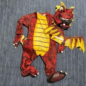 EUC Infant Dragon Costume 18-24M | Red & Yellow